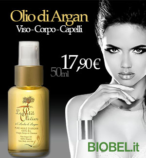 banner - olio di argan offerta  17,90 euro su biobel.it